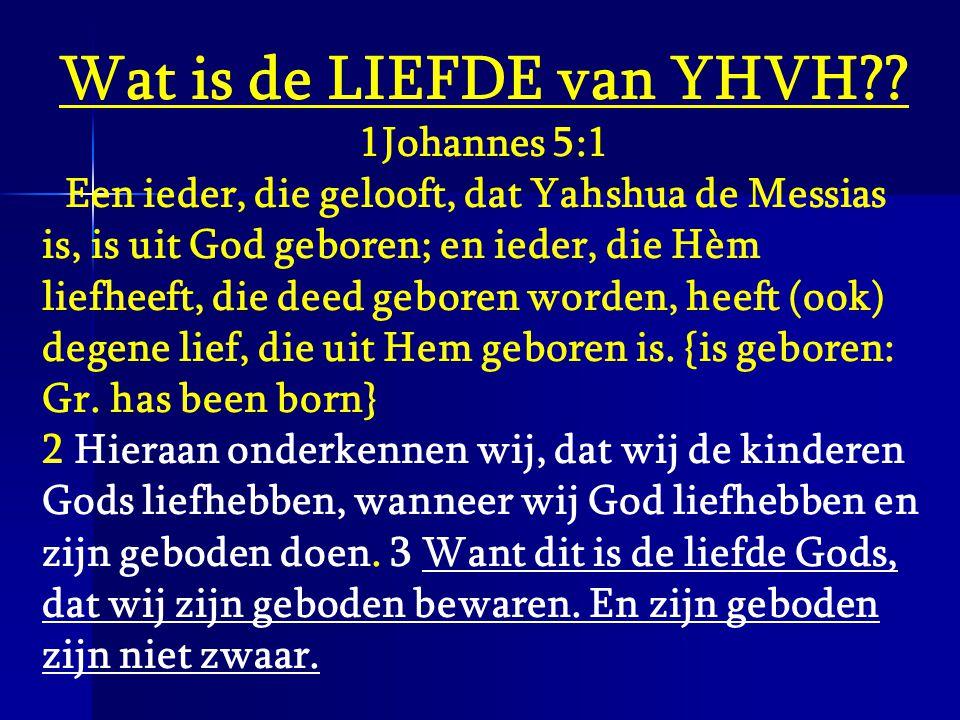Wat is de LIEFDE van YHVH