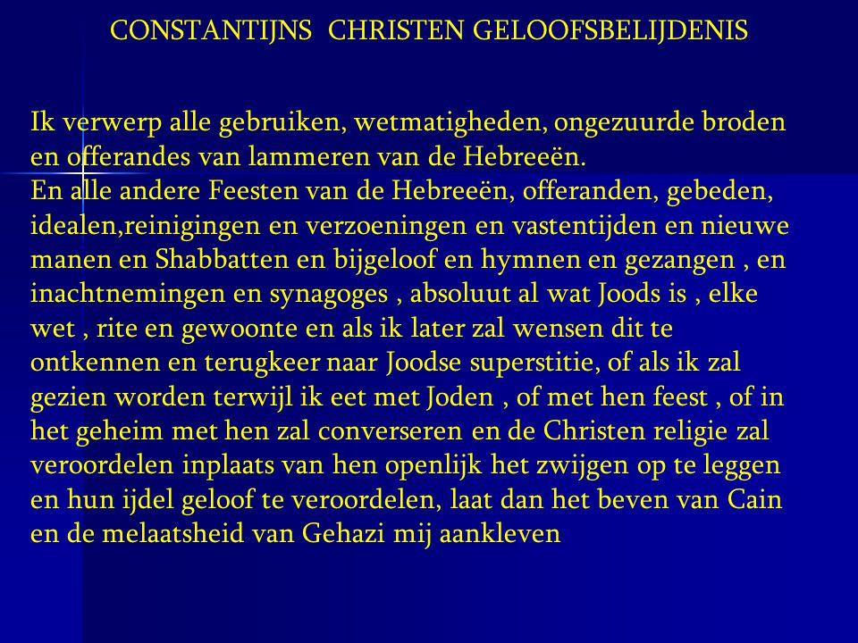 CONSTANTIJNS CHRISTEN GELOOFSBELIJDENIS