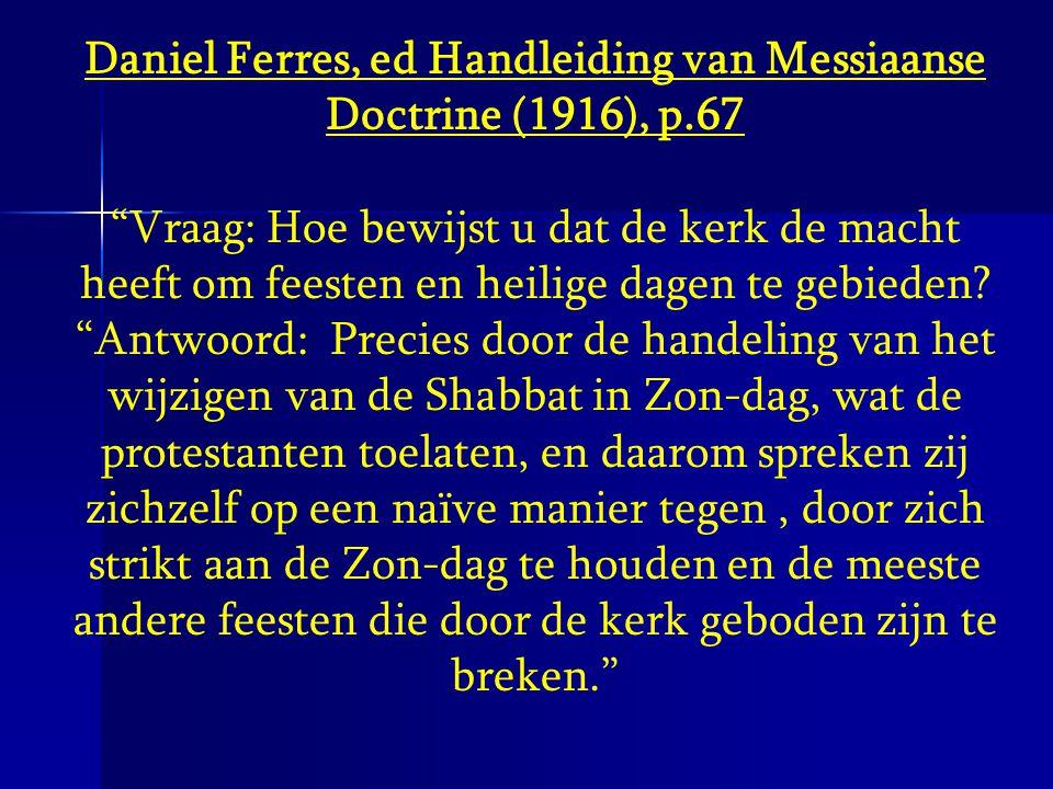 Daniel Ferres, ed Handleiding van Messiaanse Doctrine (1916), p.67