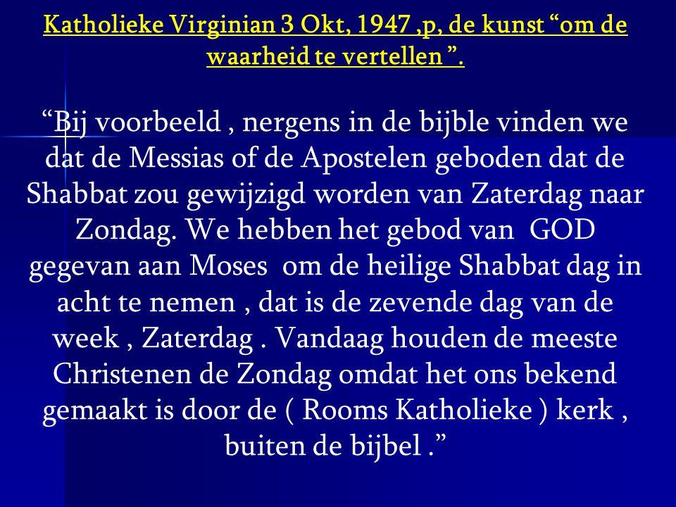 Katholieke Virginian 3 Okt, 1947 ,p, de kunst om de waarheid te vertellen .