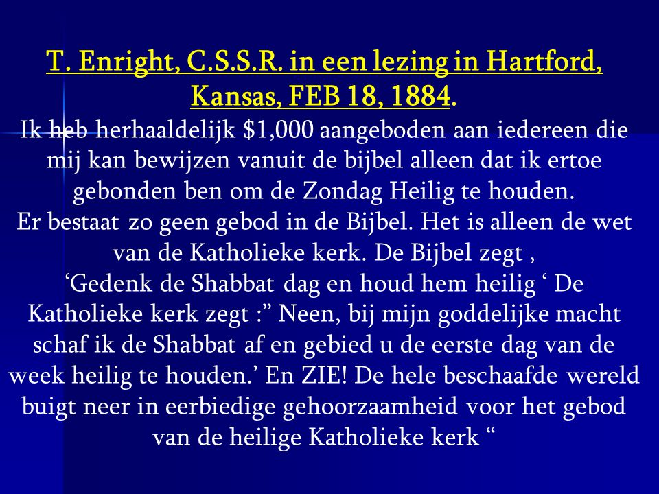 T. Enright, C.S.S.R. in een lezing in Hartford, Kansas, FEB 18, 1884.