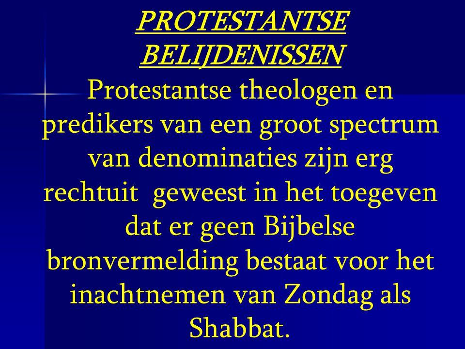 PROTESTANTSE BELIJDENISSEN
