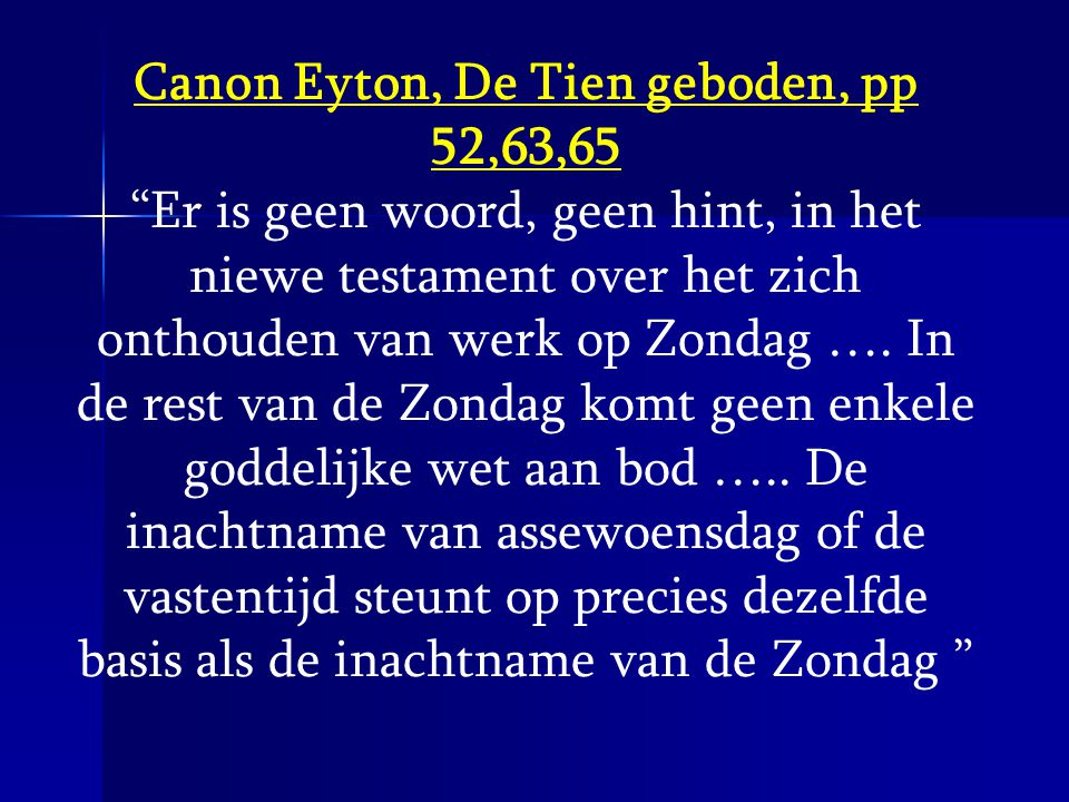 Canon Eyton, De Tien geboden, pp 52,63,65