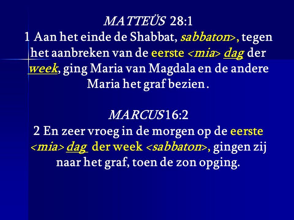 MATTEÜS 28:1