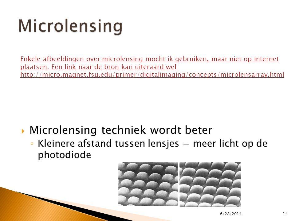 Microlensing Microlensing techniek wordt beter