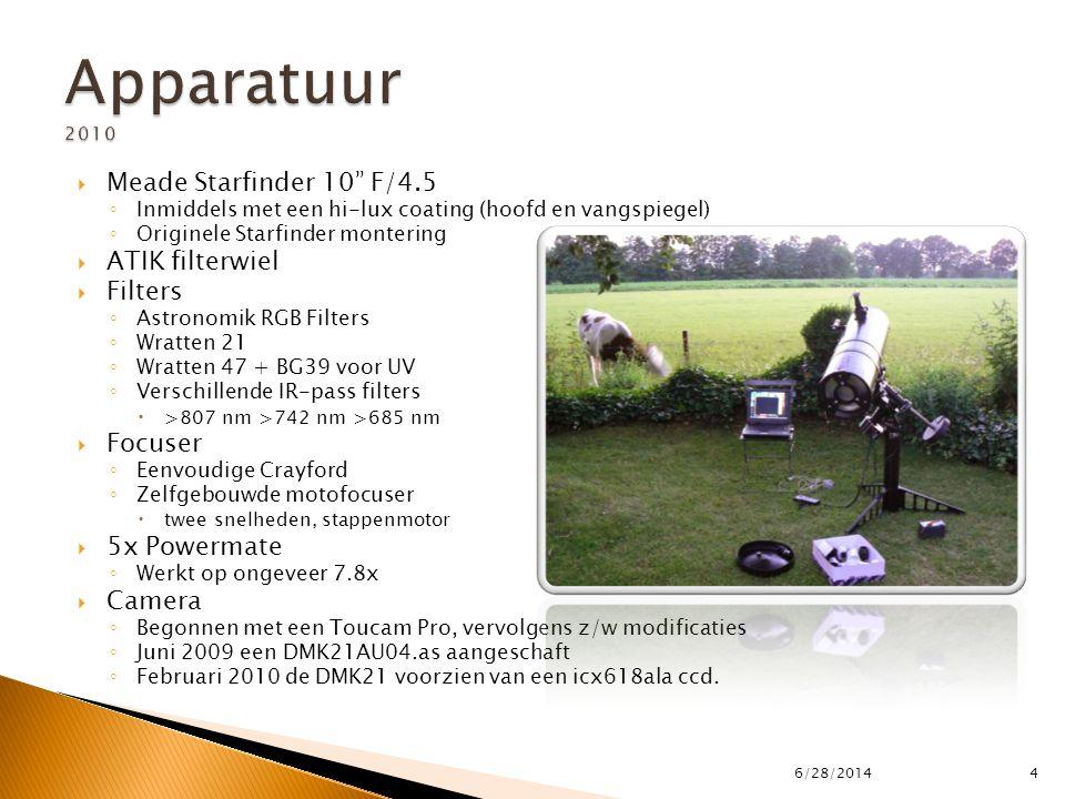 Apparatuur 2010 Meade Starfinder 10 F/4.5 ATIK filterwiel Filters