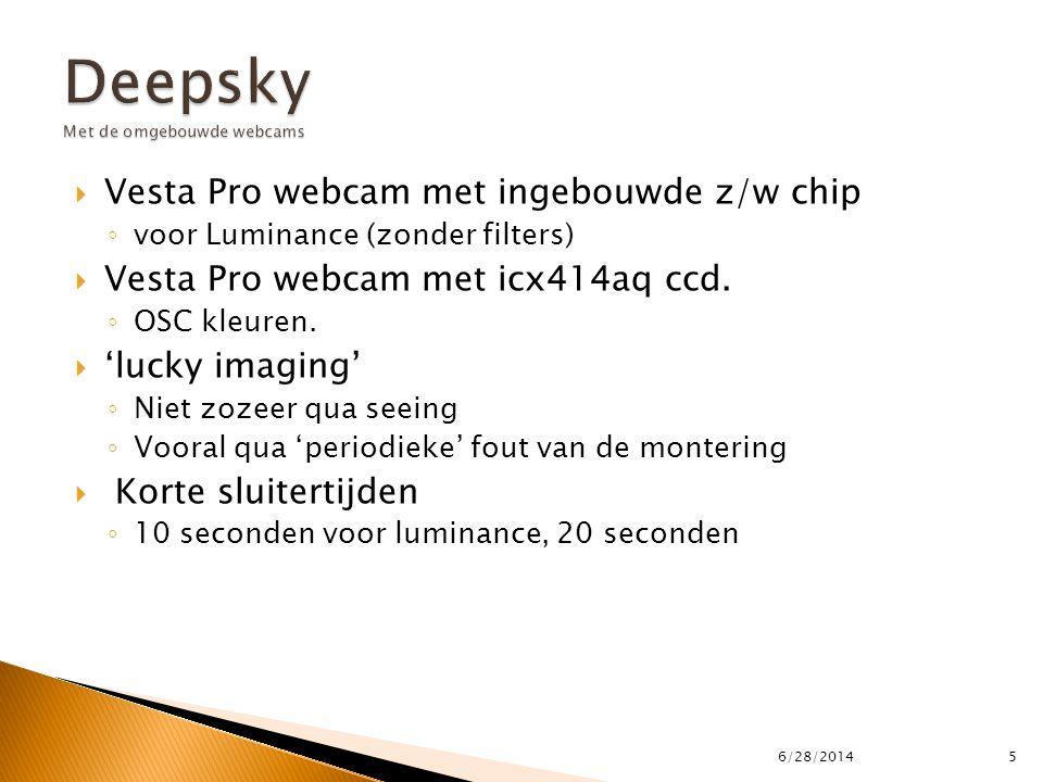 Deepsky Met de omgebouwde webcams