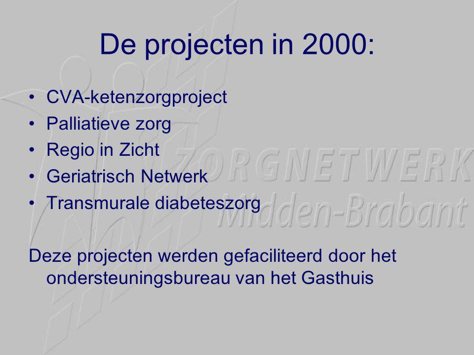 De projecten in 2000: CVA-ketenzorgproject Palliatieve zorg