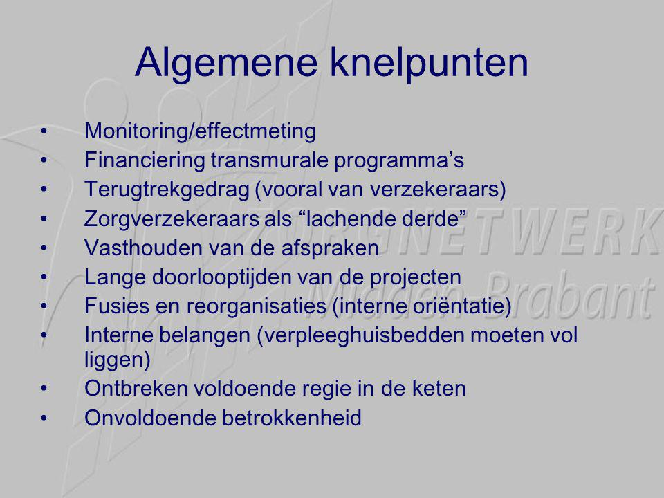 Algemene knelpunten Monitoring/effectmeting