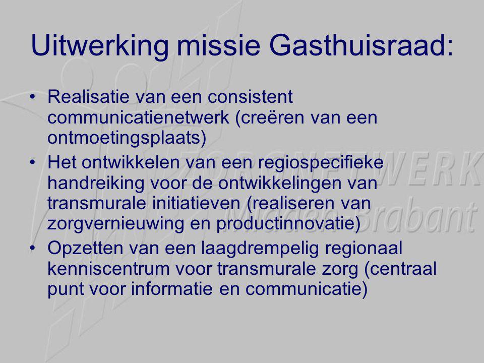 Uitwerking missie Gasthuisraad: