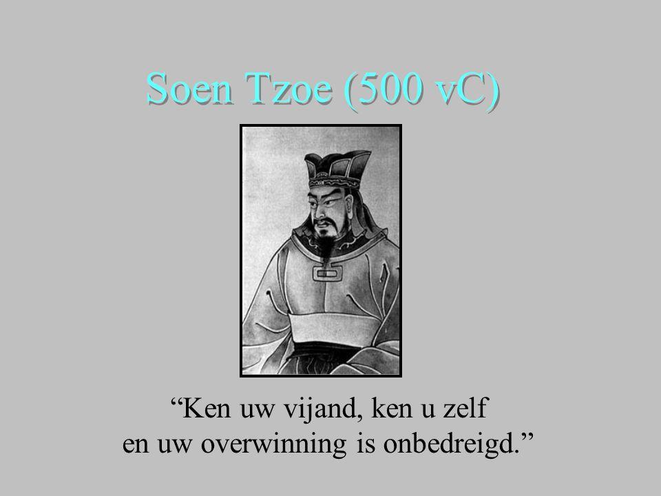 Soen Tzoe (500 vC) Ken uw vijand, ken u zelf