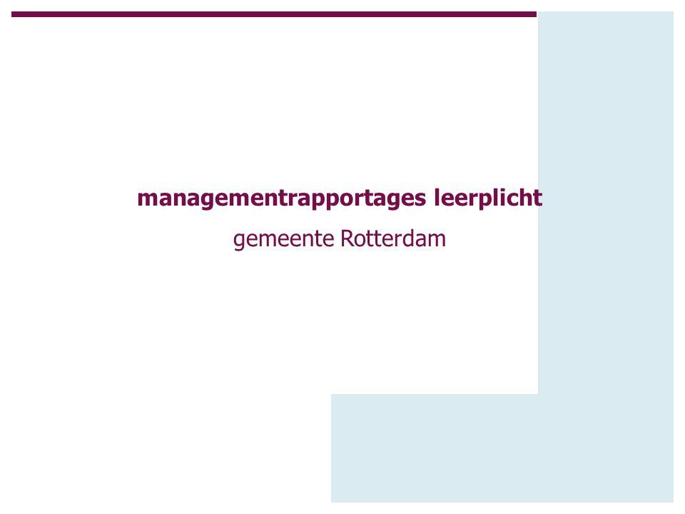 managementrapportages leerplicht