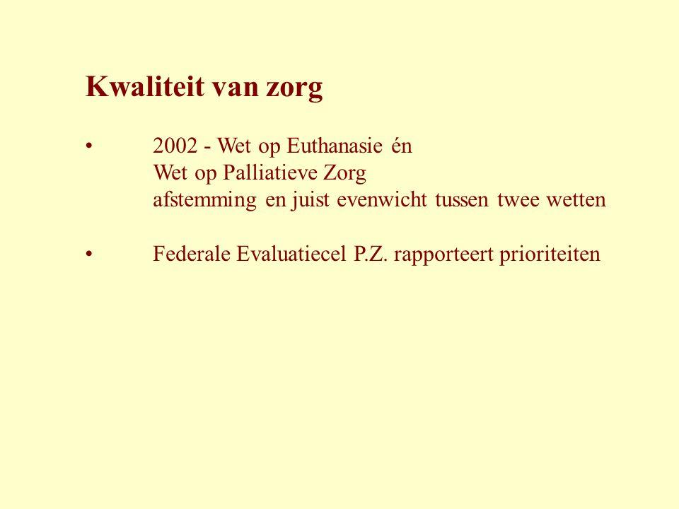 Kwaliteit van zorg 2002 - Wet op Euthanasie én Wet op Palliatieve Zorg