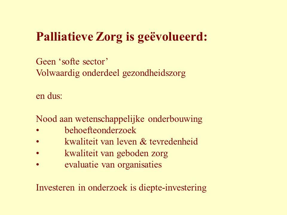 Palliatieve Zorg is geëvolueerd: