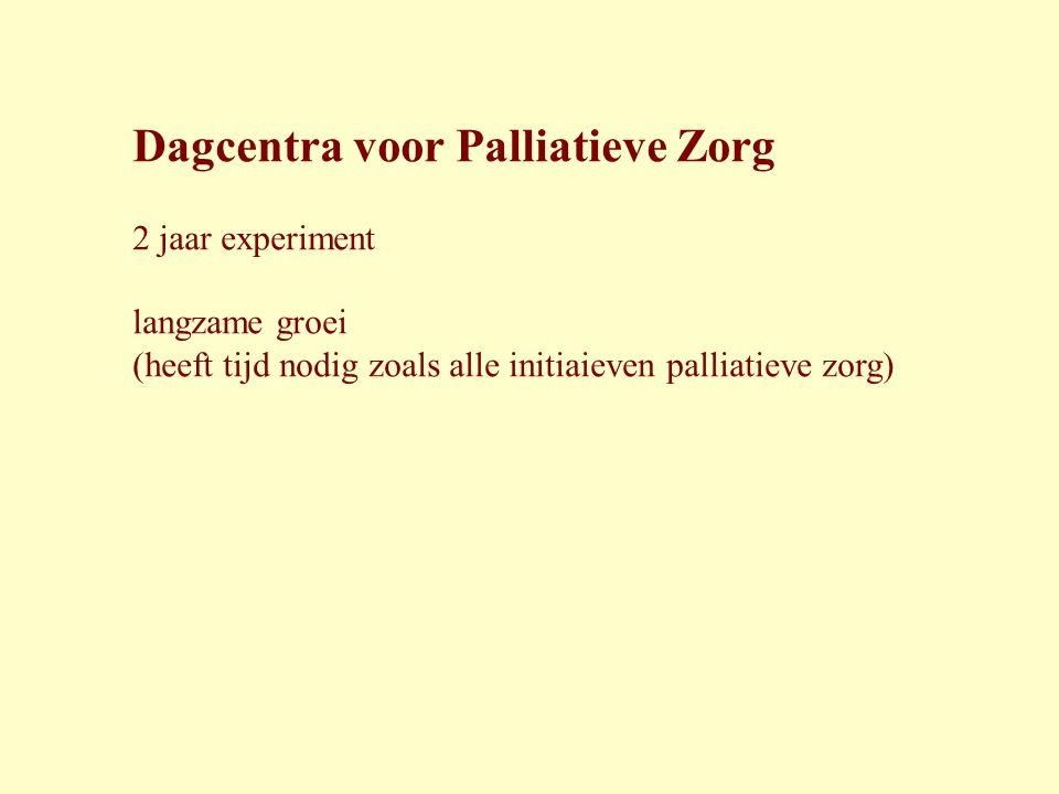 Dagcentra voor Palliatieve Zorg