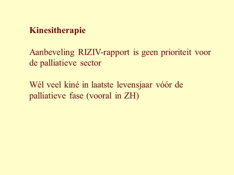 Kinesitherapie Aanbeveling RIZIV-rapport is geen prioriteit voor de palliatieve sector.
