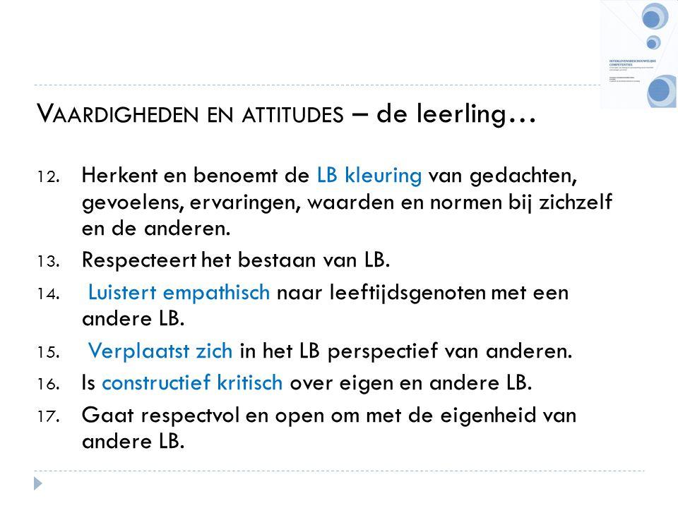 Vaardigheden en attitudes – de leerling…