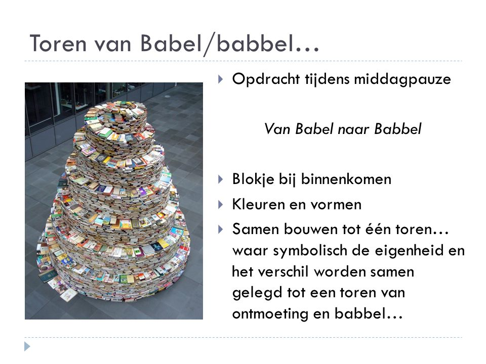 Toren van Babel/babbel…