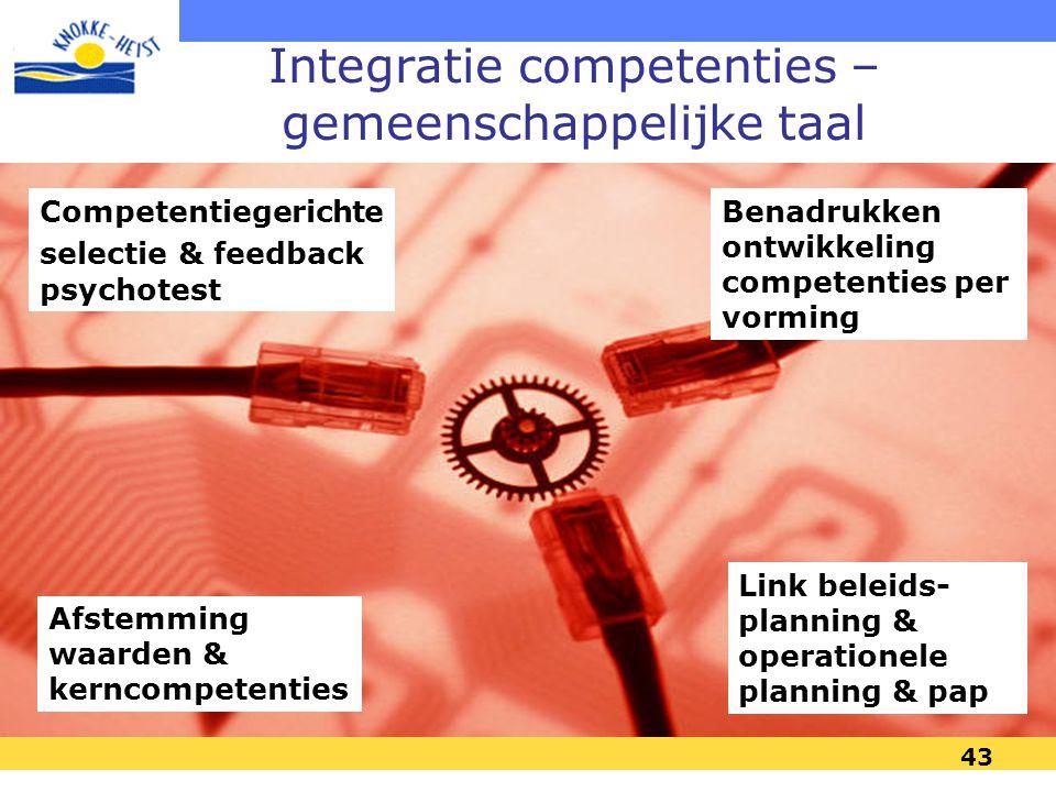 Integratie competenties – gemeenschappelijke taal