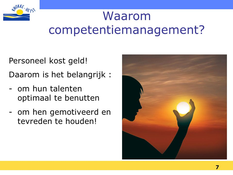Waarom competentiemanagement