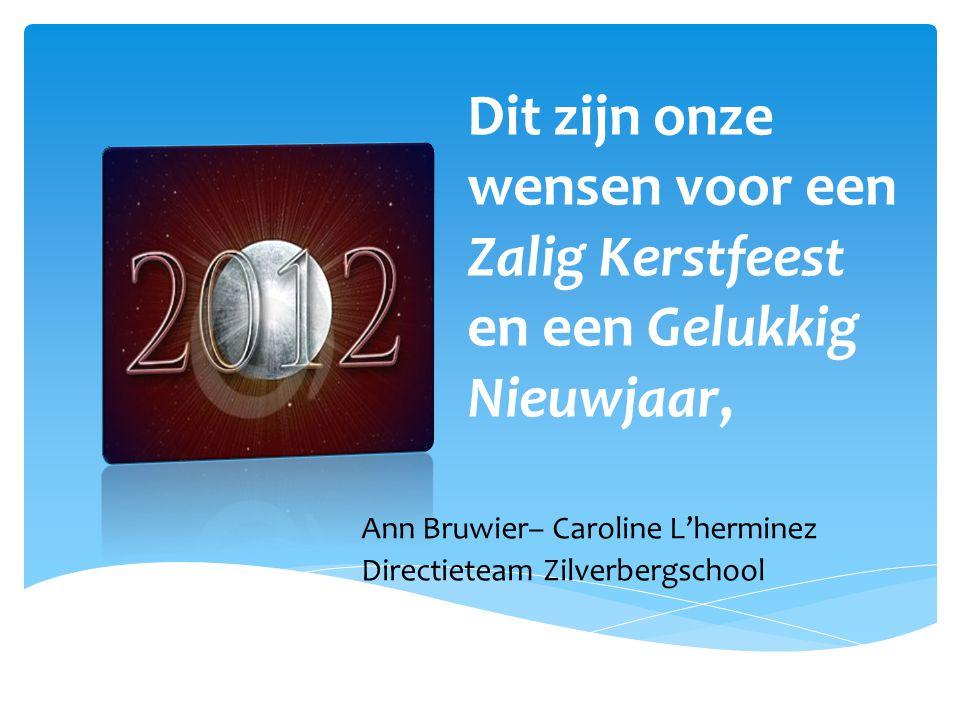 Dit zijn onze wensen voor een Zalig Kerstfeest en een Gelukkig Nieuwjaar,