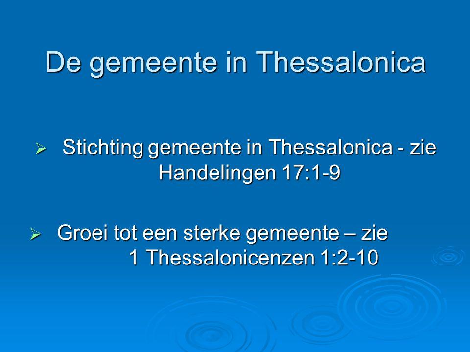 De gemeente in Thessalonica