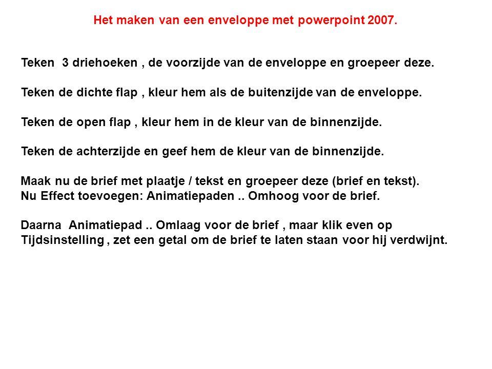 Het maken van een enveloppe met powerpoint 2007.
