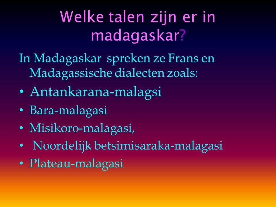 Welke talen zijn er in madagaskar