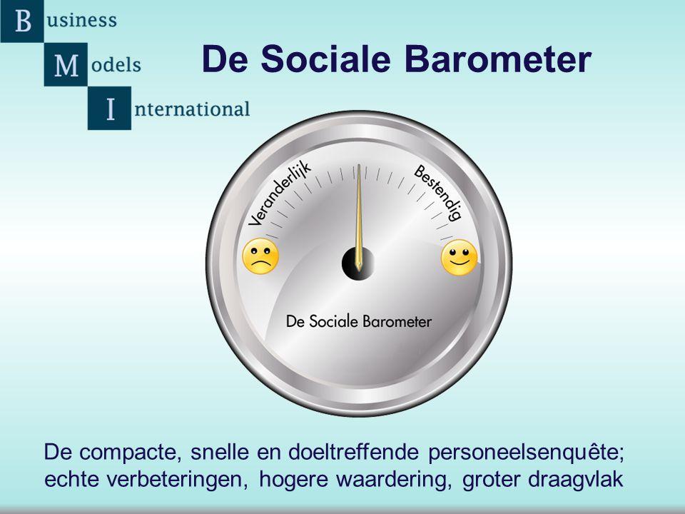 De Sociale Barometer De compacte, snelle en doeltreffende personeelsenquête; echte verbeteringen, hogere waardering, groter draagvlak.