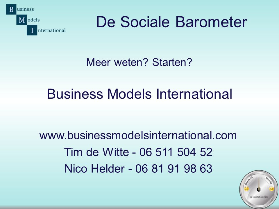 Meer weten Starten Business Models International