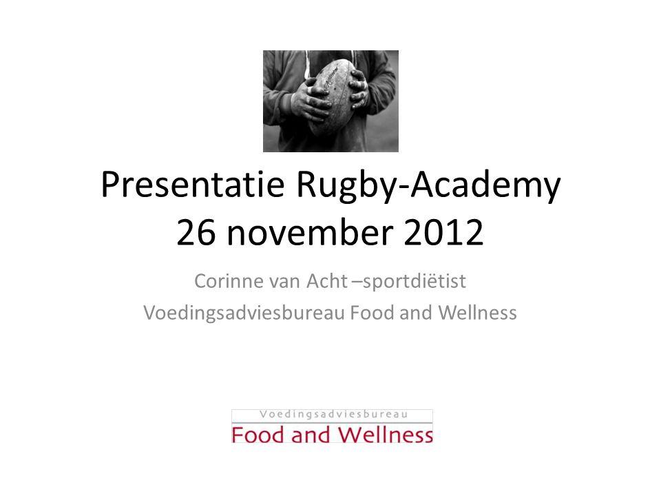 Presentatie Rugby-Academy 26 november 2012