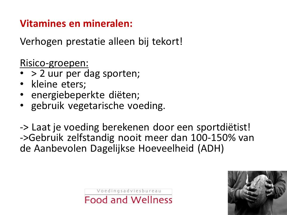 Vitamines en mineralen:
