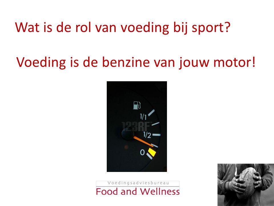 Wat is de rol van voeding bij sport