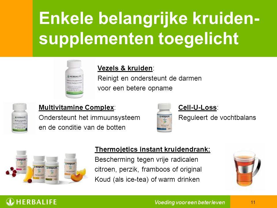 Enkele belangrijke kruiden- supplementen toegelicht