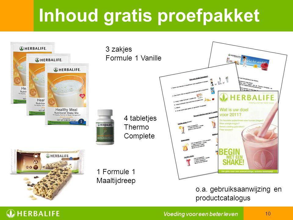 Inhoud gratis proefpakket