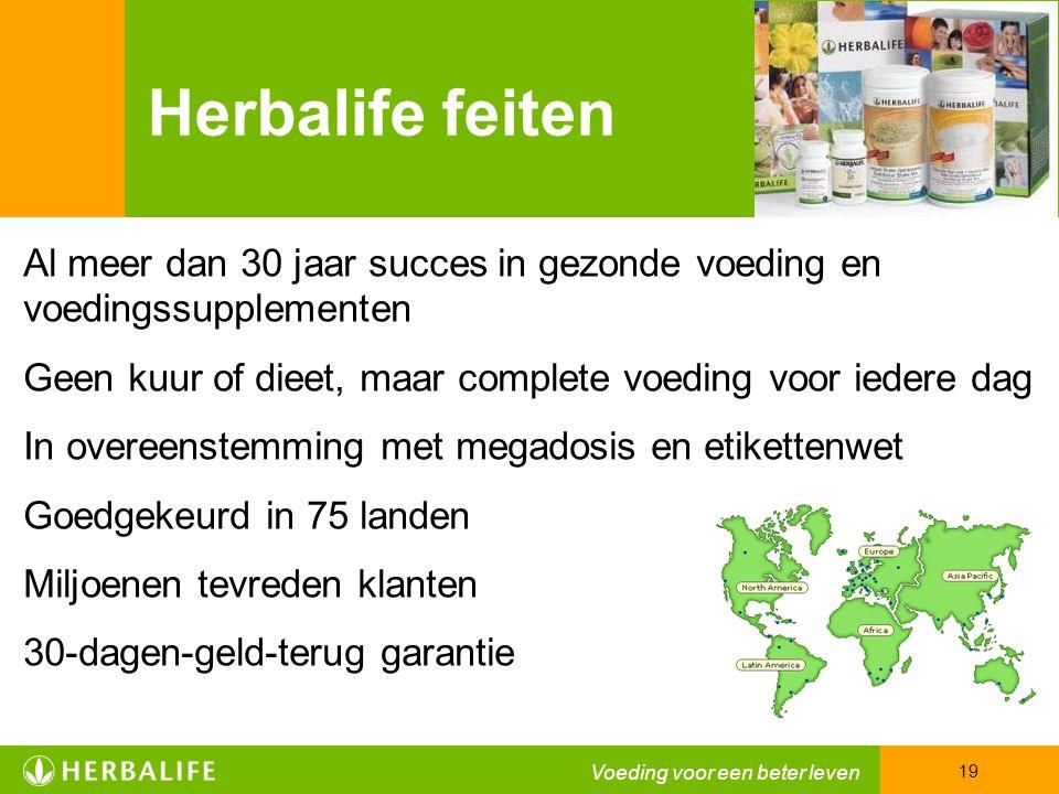 Herbalife feiten Al meer dan 30 jaar succes in gezonde voeding en voedingssupplementen. Geen kuur of dieet, maar complete voeding voor iedere dag.