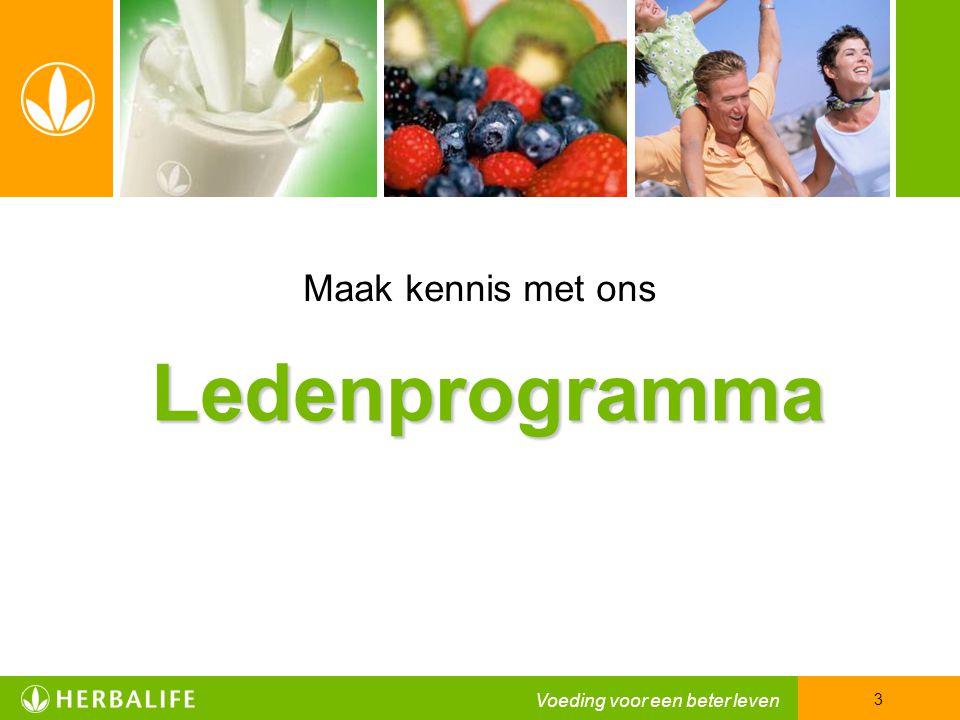 Maak kennis met ons Ledenprogramma Voeding voor een beter leven 3