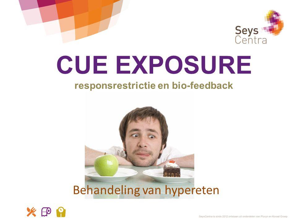CUE EXPOSURE responsrestrictie en bio-feedback