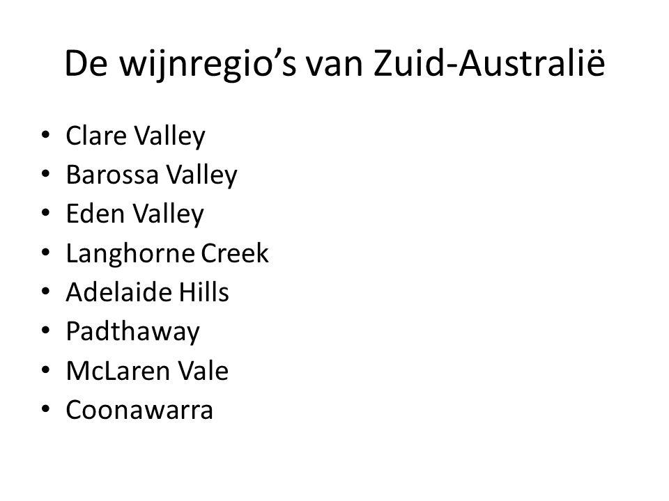 De wijnregio's van Zuid-Australië