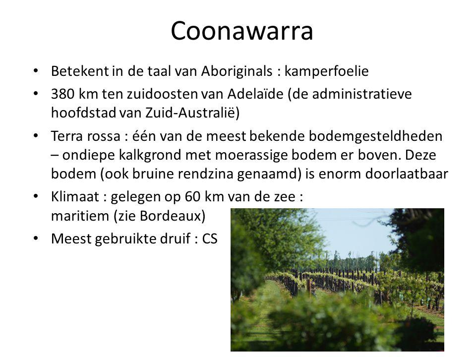 Coonawarra Betekent in de taal van Aboriginals : kamperfoelie