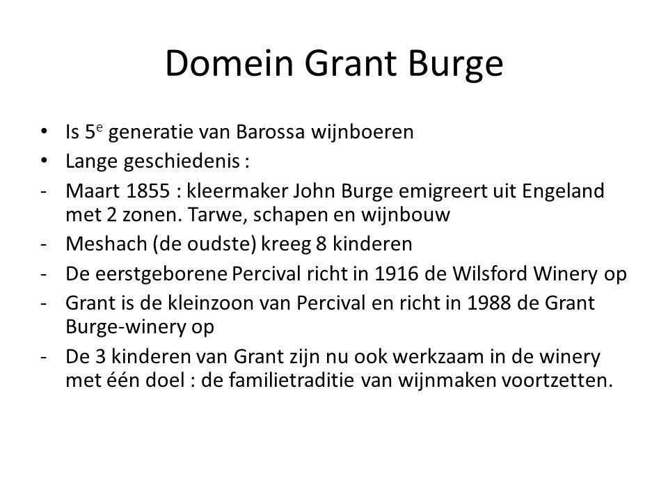 Domein Grant Burge Is 5e generatie van Barossa wijnboeren