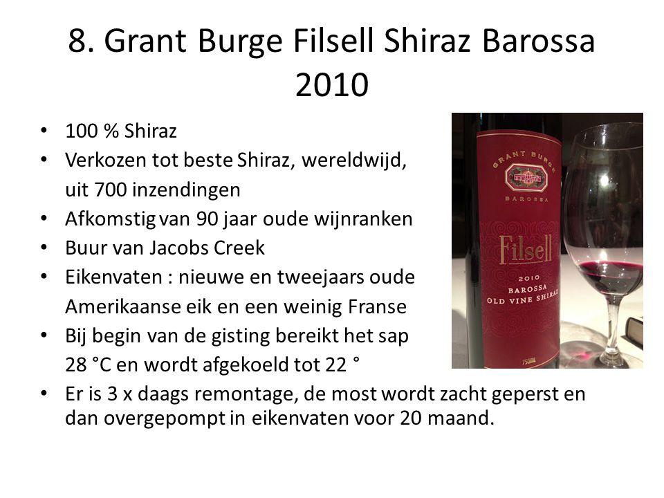 8. Grant Burge Filsell Shiraz Barossa 2010