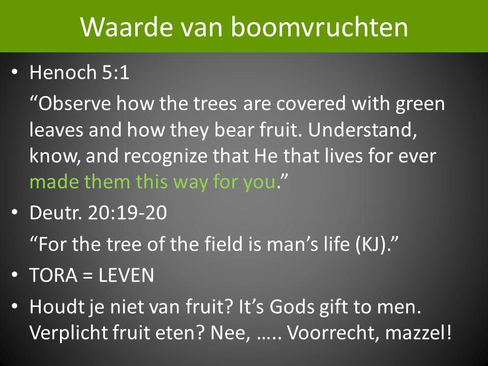 Waarde van boomvruchten