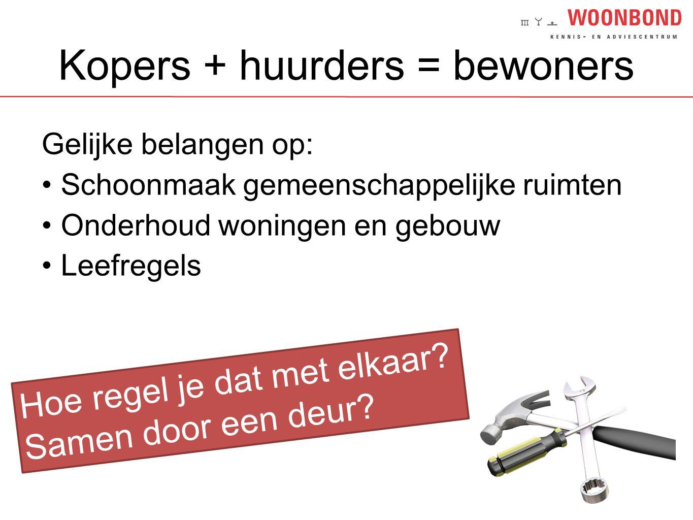 Kopers + huurders = bewoners