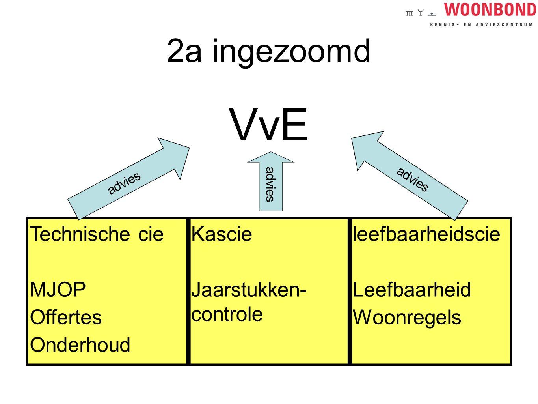 VvE 2a ingezoomd Technische cie Kascie leefbaarheidscie MJOP Offertes