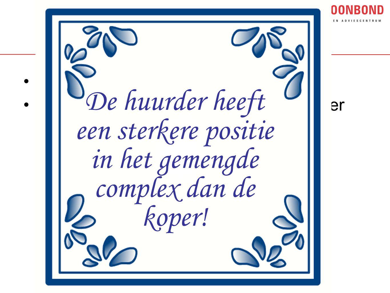 Delfts blauw tegeltje Huurder heeft sterkere positie dan koper.