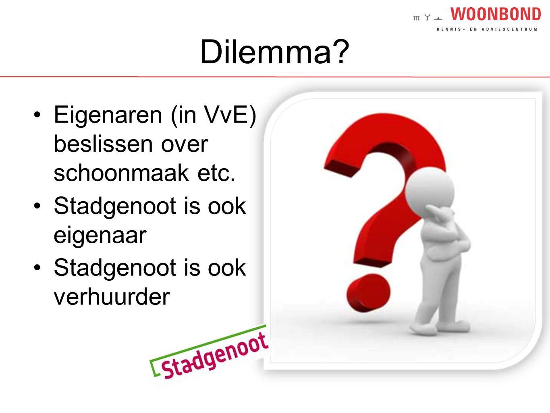 Dilemma Eigenaren (in VvE) beslissen over schoonmaak etc.