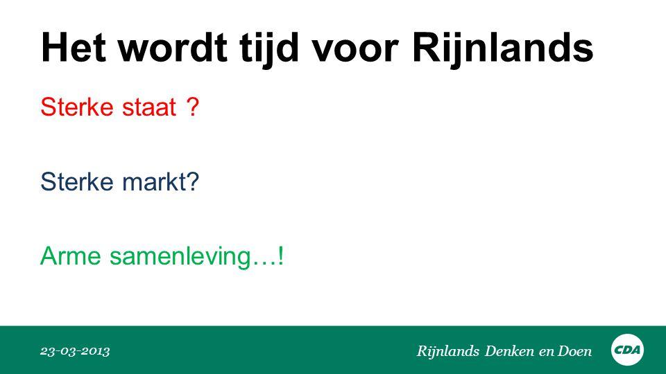 Het wordt tijd voor Rijnlands