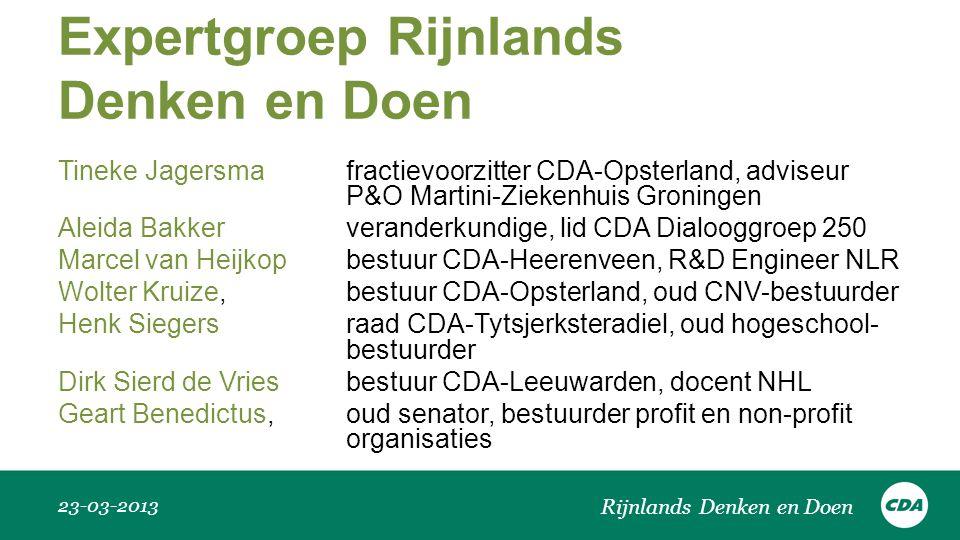 Expertgroep Rijnlands Denken en Doen
