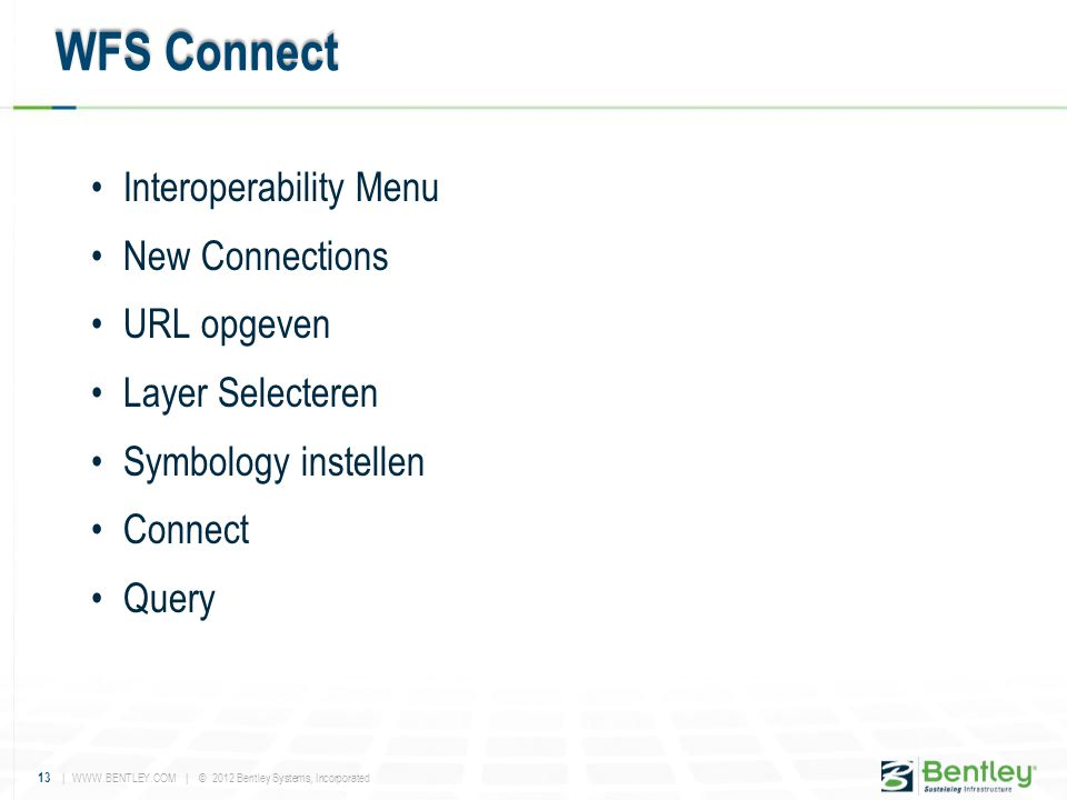WFS Connect Interoperability Menu New Connections URL opgeven